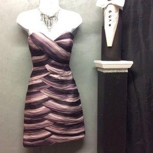 Sz 0 Mori Lee Strapless Cocktail Dress